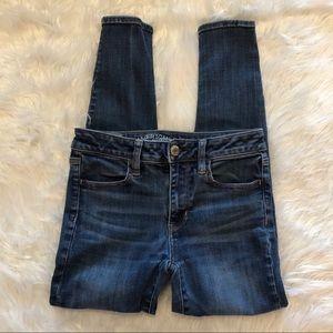 AE Womens Denim Jeans Size 4 Super Super Stretch